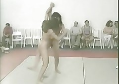 Retro Russian Catfight Striving