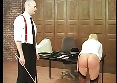 Strict Trainer spanks Lasting