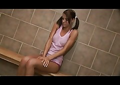 Smoking hot teen banged on..