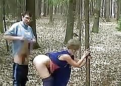 grandma shafting alfresco - 3