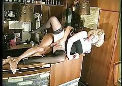 Barmaid has amusement..
