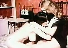 Retro Lesbians Kissing